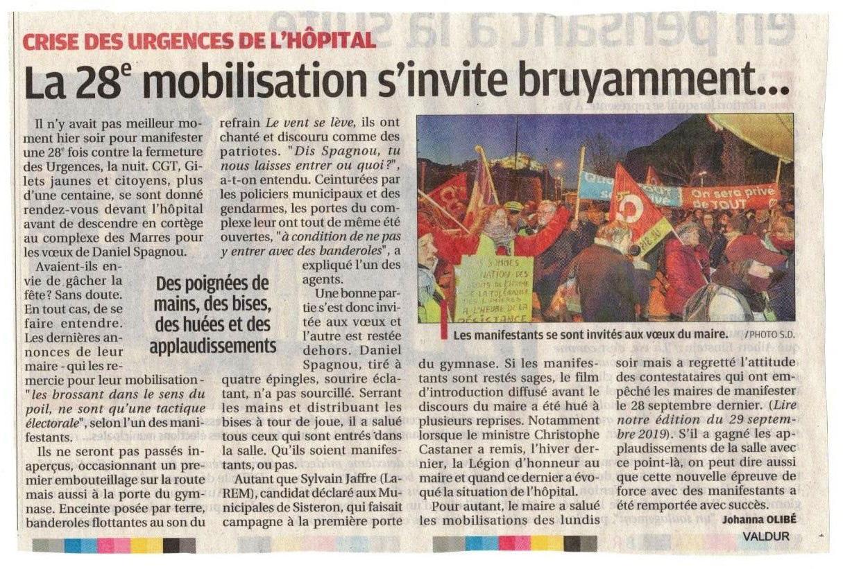 Article La Provence du 7 janvier 2020