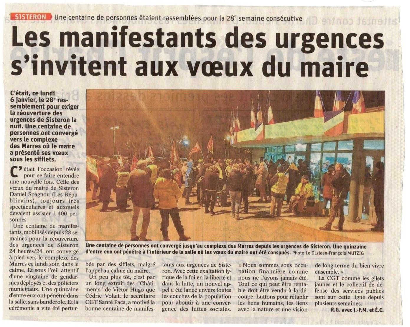 Article Le Dauphiné du 7 janvier 2020