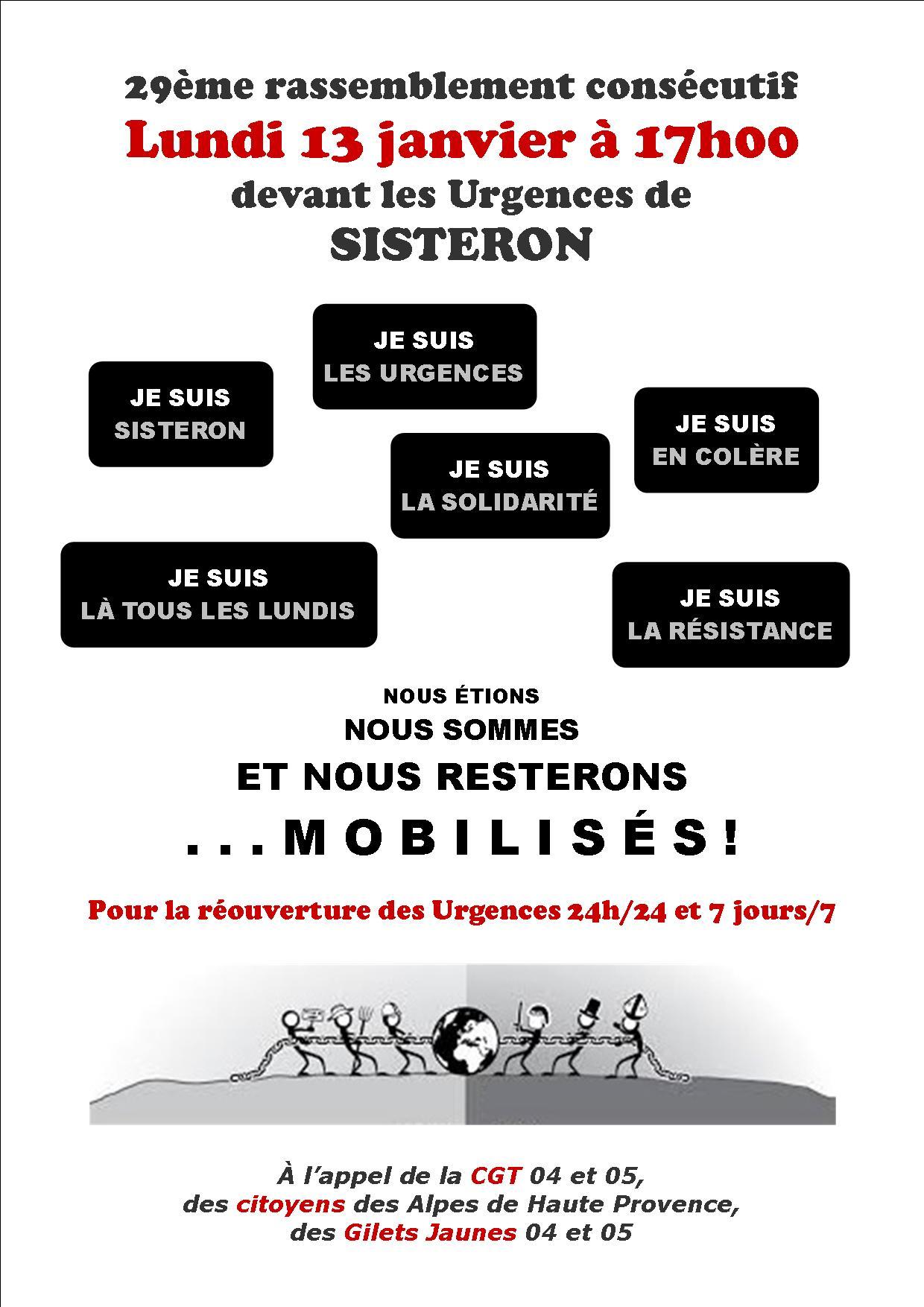 Tract Urgences de Sisteron du 13 janvier 2020