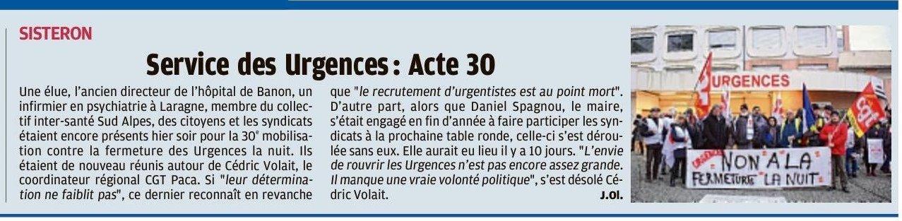 Article La Provence du 21 janvier 2020