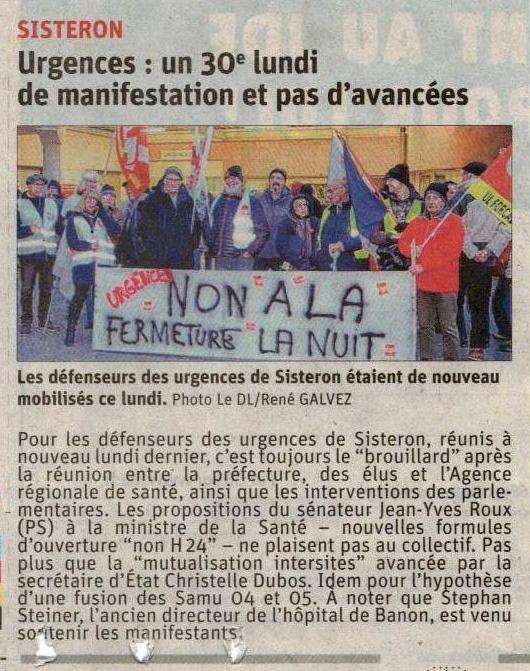 Article Le Dauphiné du 22 janvier 2020