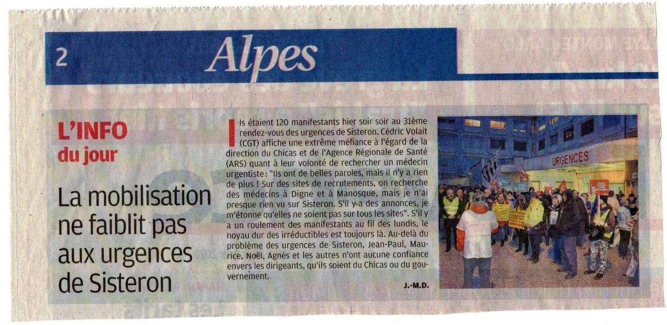 1224. Article La Provence du 28 janvier 2020