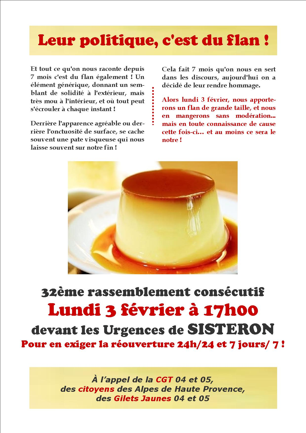 Tract 32ème mobilisation Urgences de Sisteron