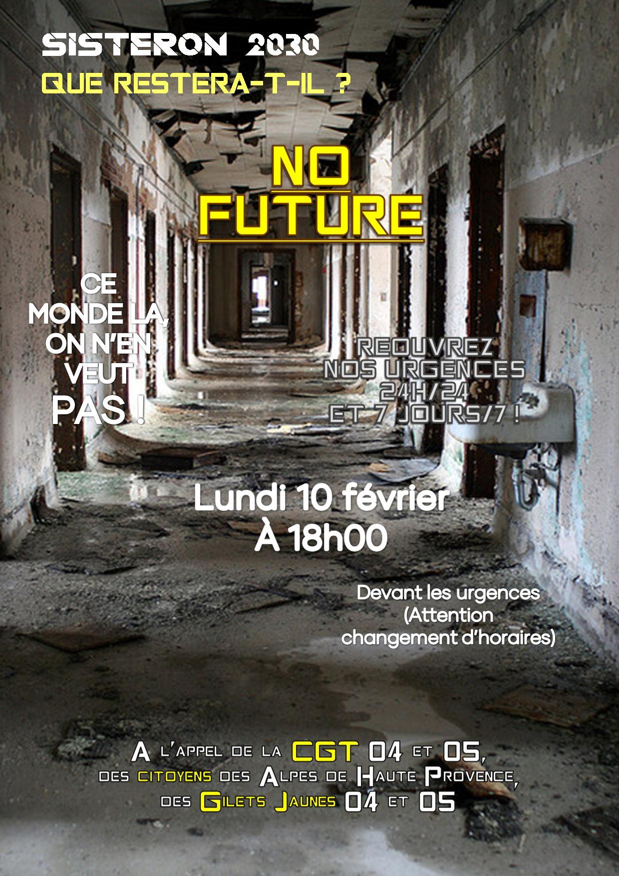 Tract Urgences de Sisteron No future 10 février 2020