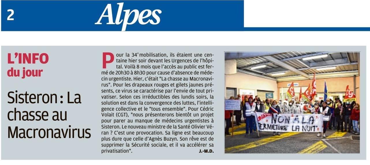 1231. Article La Provence du 18 février 2020