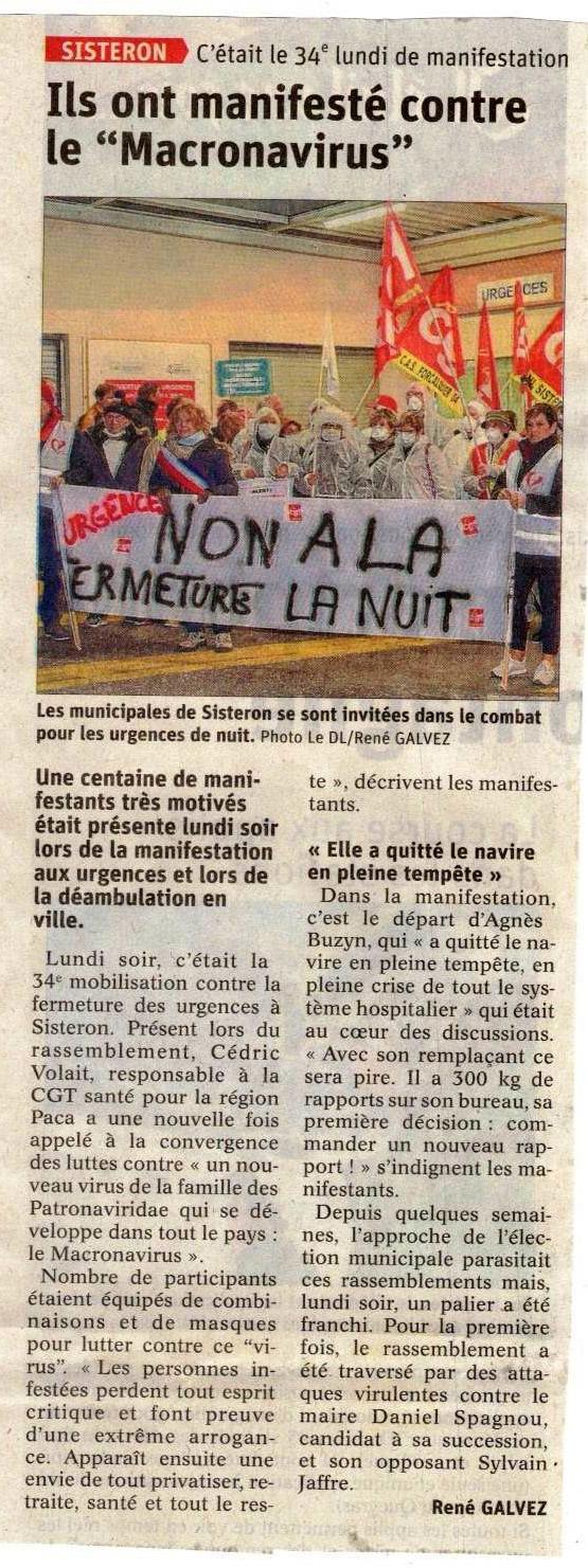 1231. Article Le Dauphiné du 19 février 2020