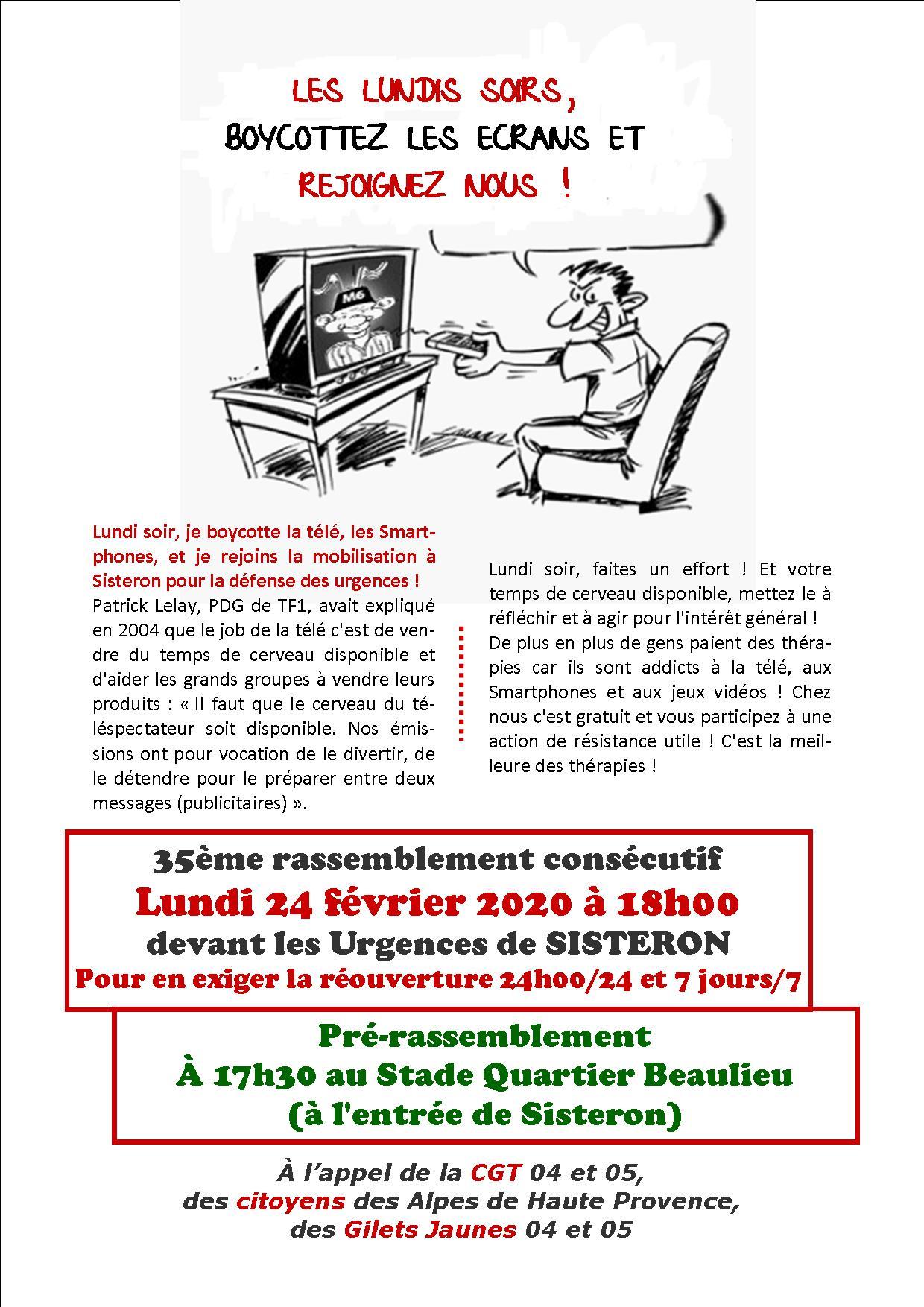 1231. Tract urgences de Sisteron 24 février 2020