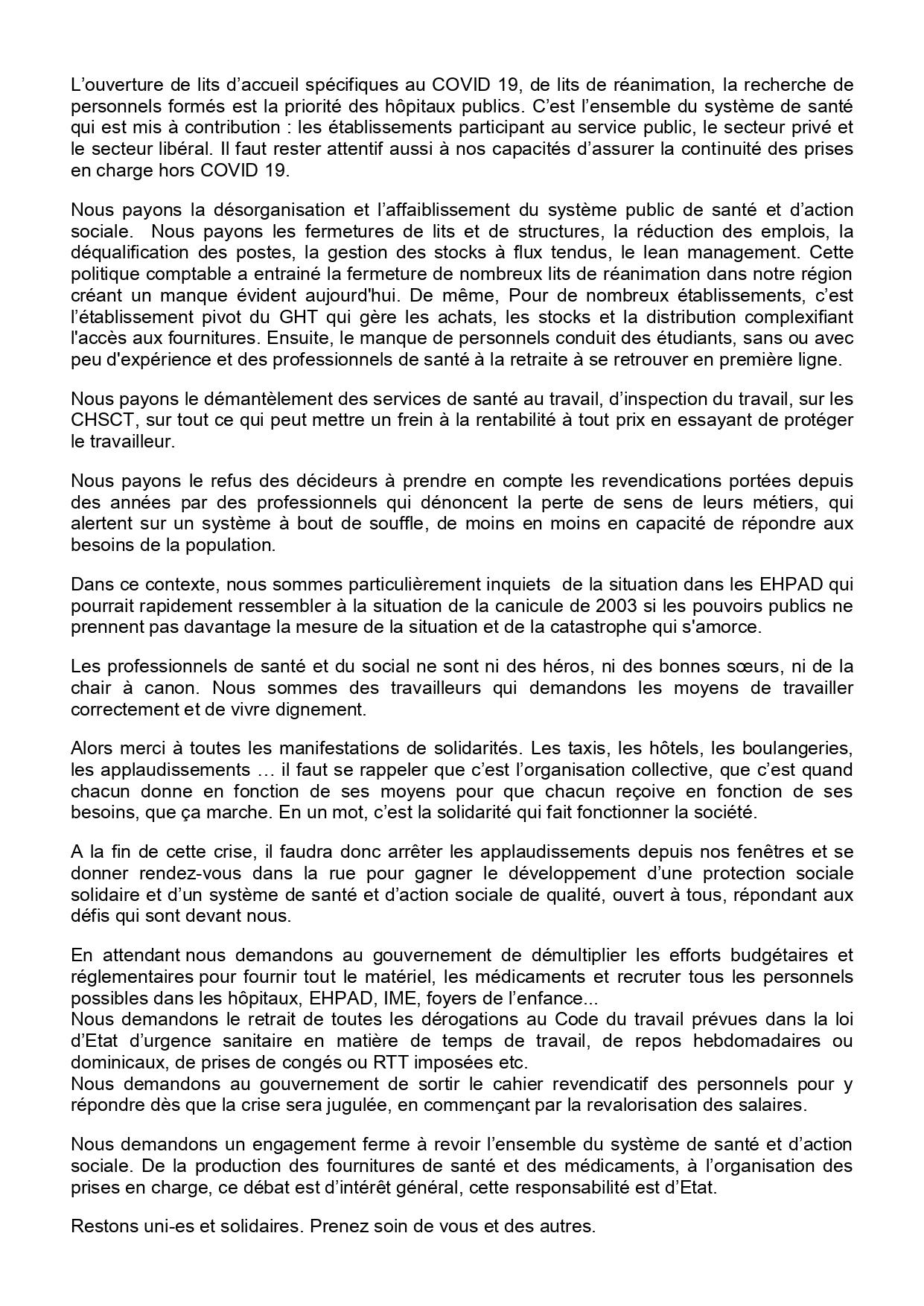 Covid-19 Communiqué Coordination Régionale PACA du 25 mars 2020 (2)