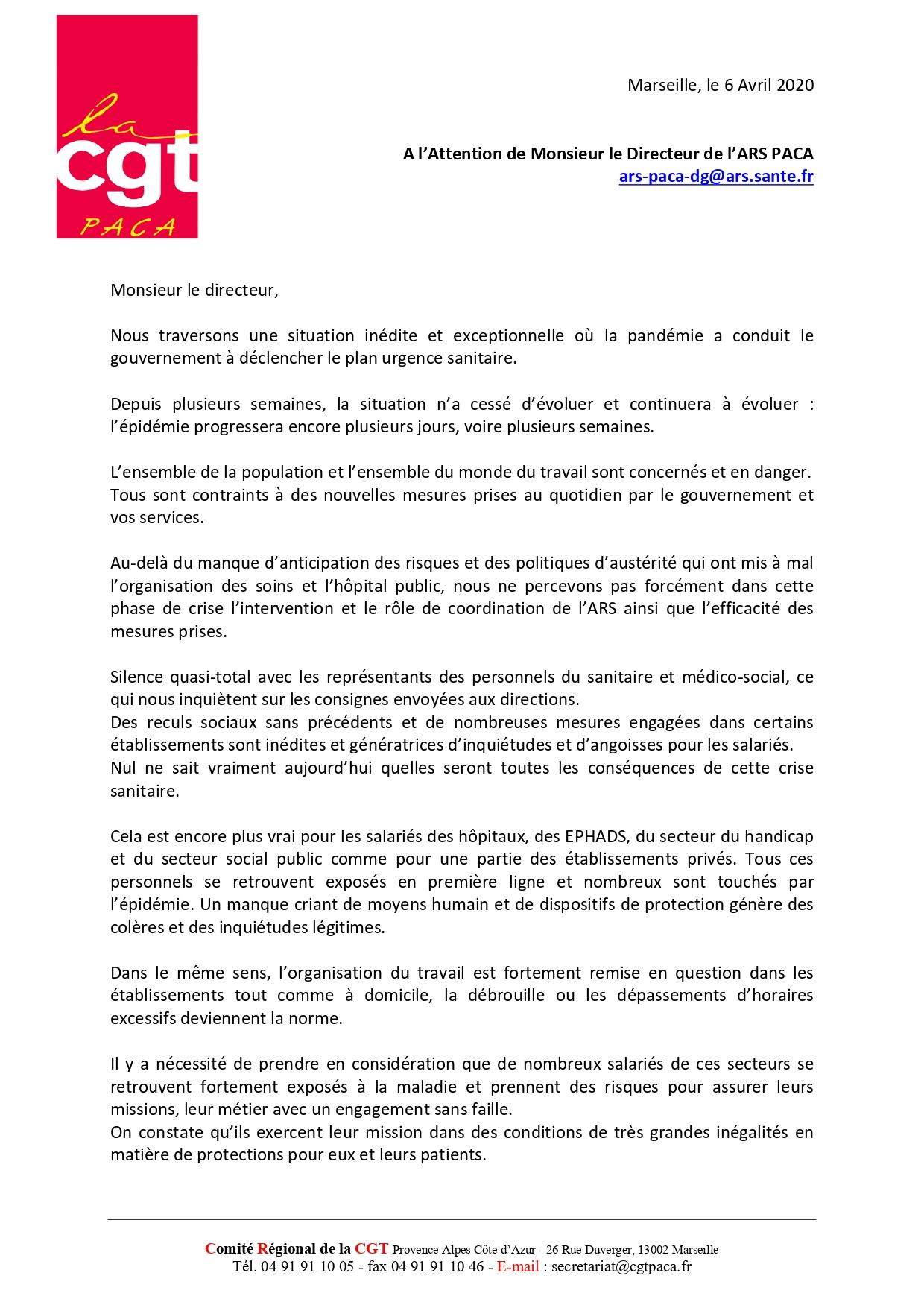 CGT. Un Hôpital Public Pourrait être Privatisé !FULL! 1252.-COURRIER-ARS-PACA-SITUATION-COVID-6-AVRIL-2020-_page-0001