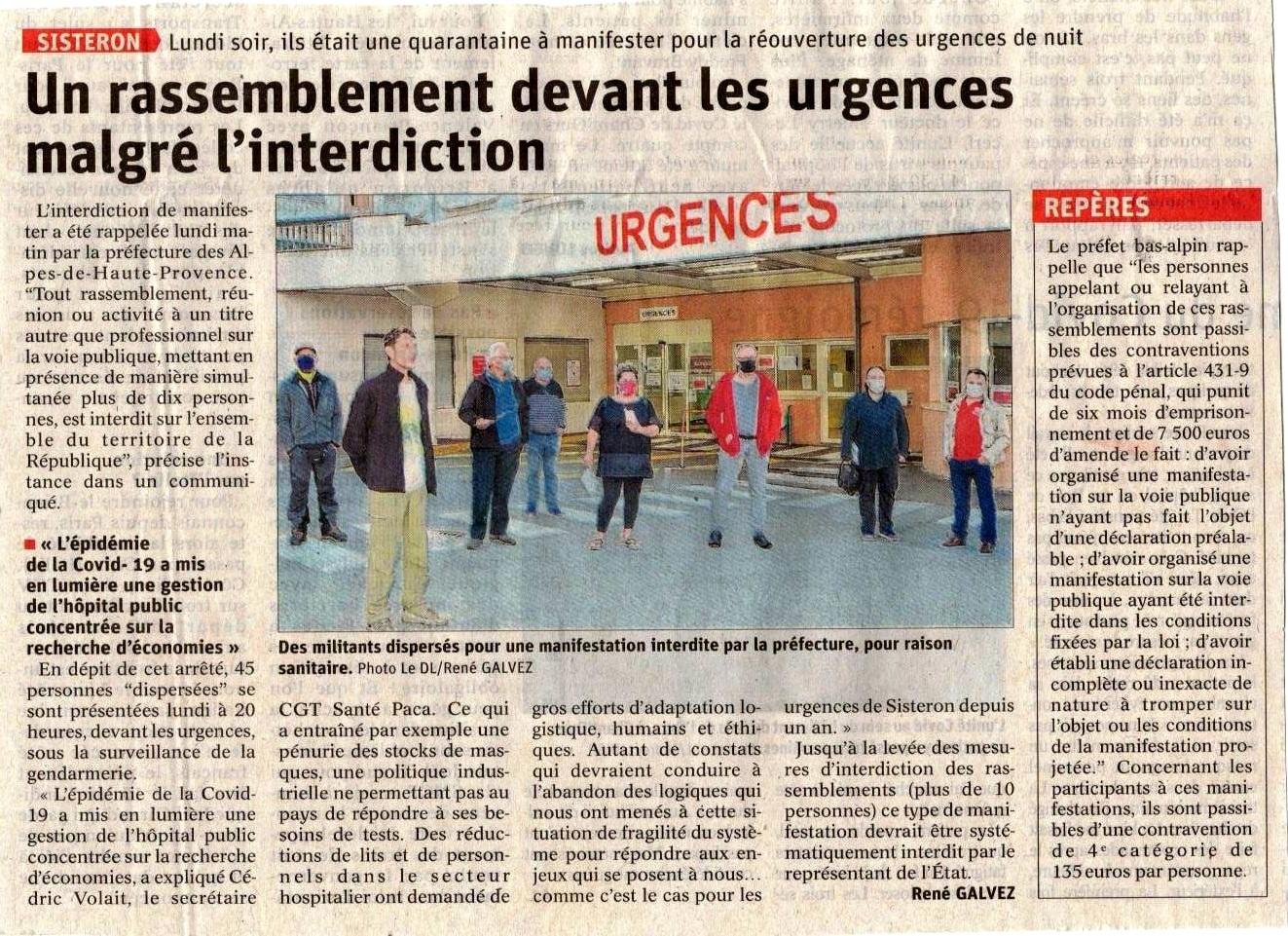 1263.3 Article Le Dauphiné du 20 mai 2020