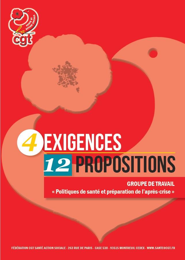 4 exigences, 12 propositions CGT Santé