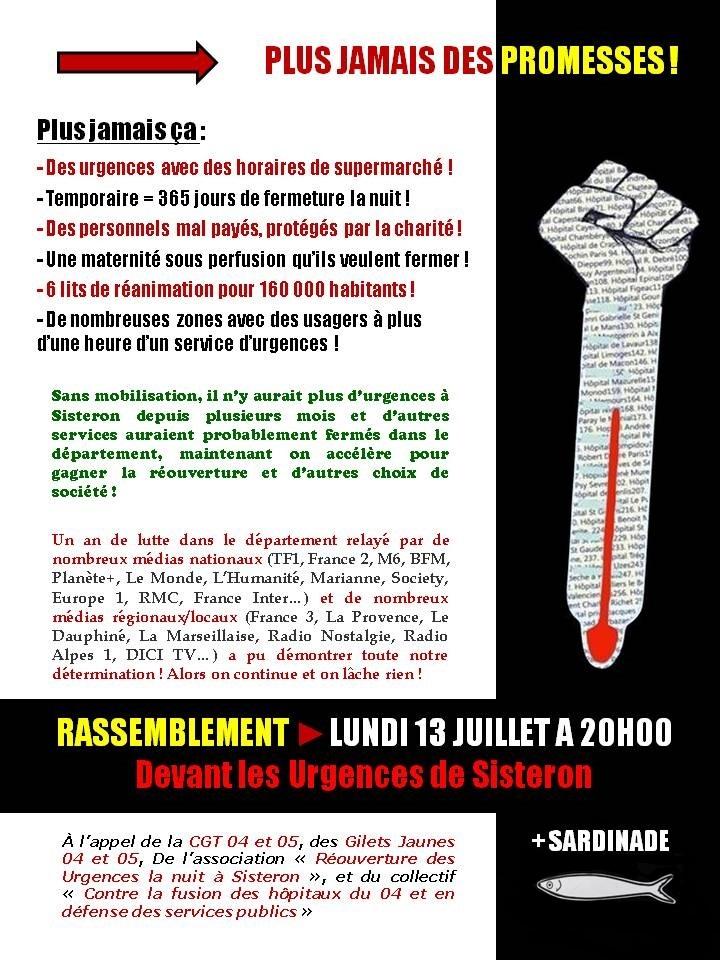 1272. Tract 365 jours de lutte à Sisteron, 13 juillet 2020