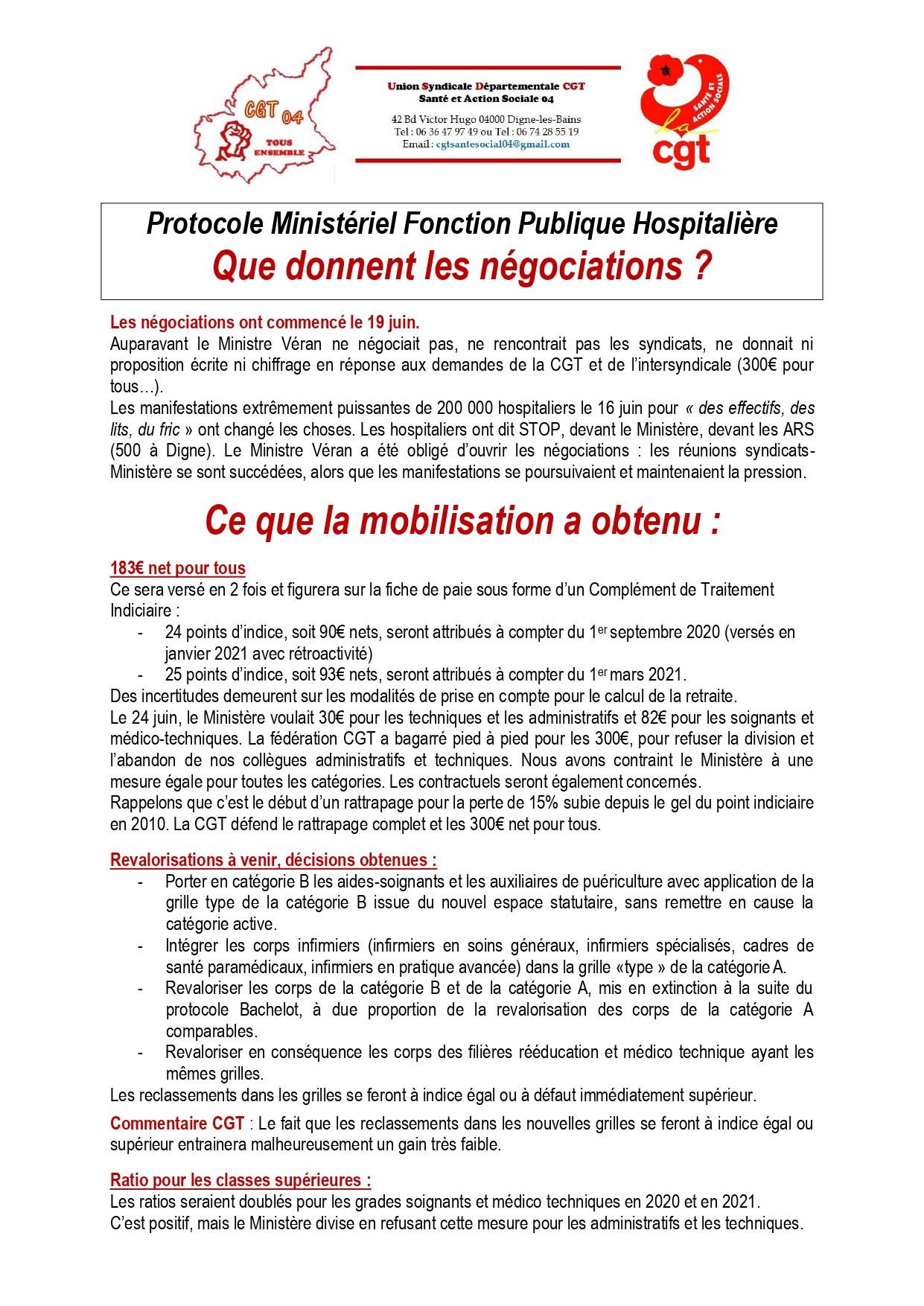 1273. Négociations Protocole Ségur de la Santé CGT Santé p1