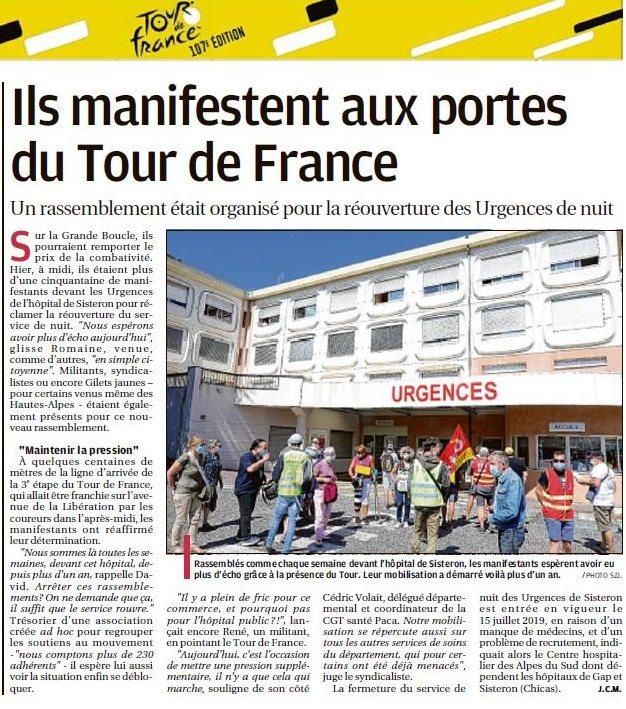 Article La Provence du 1er septembre 2020