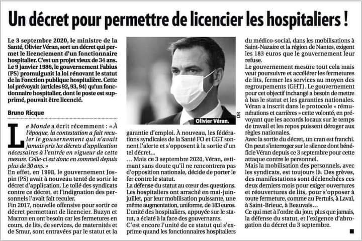 Un décret pour permettre de licencier les hospitaliers