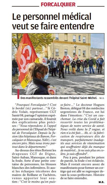 1301. Article La Provence du 16 octobre 2020