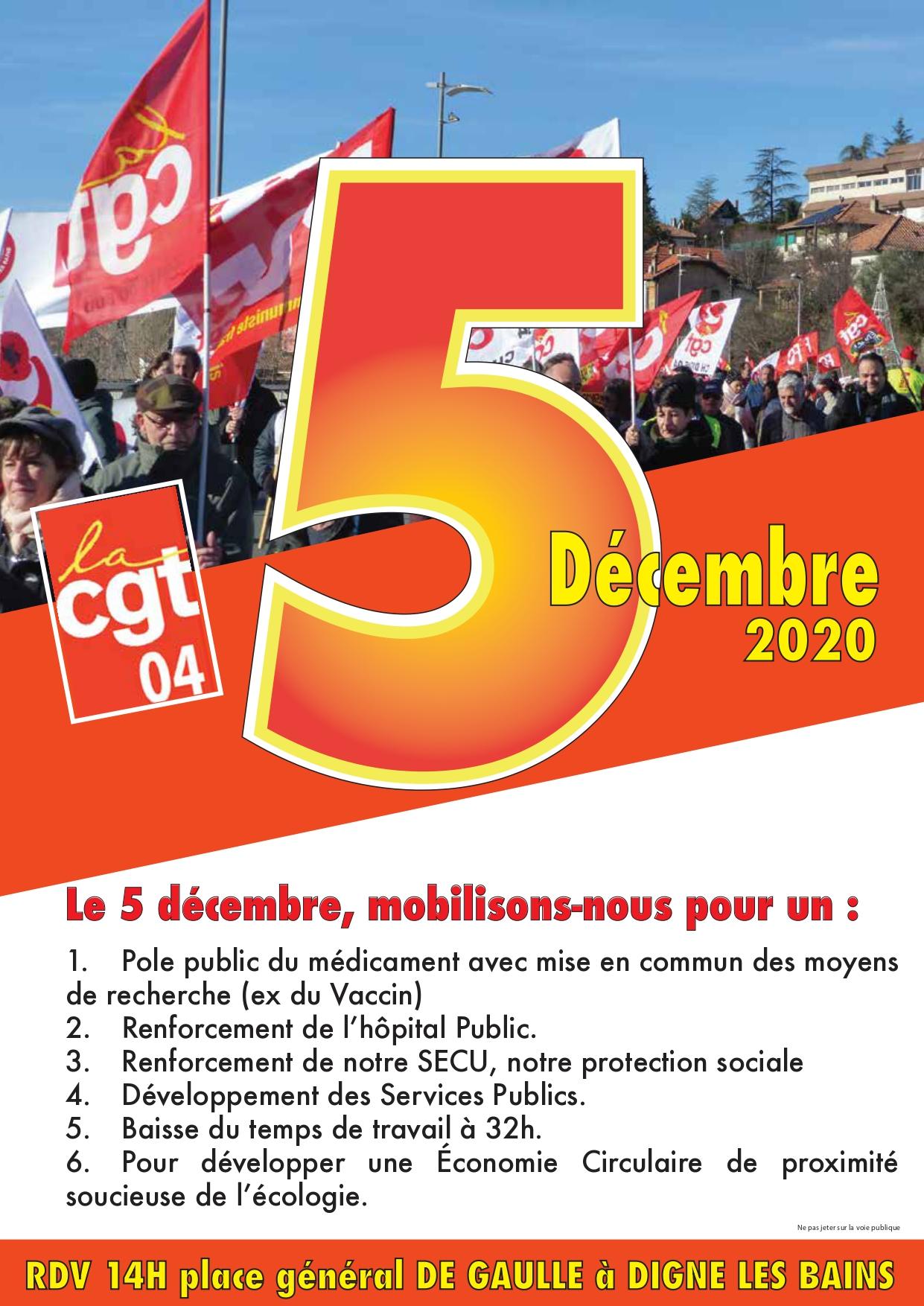 1314. Tract UD CGT 04 pour le 5 décembre 2020 (1)