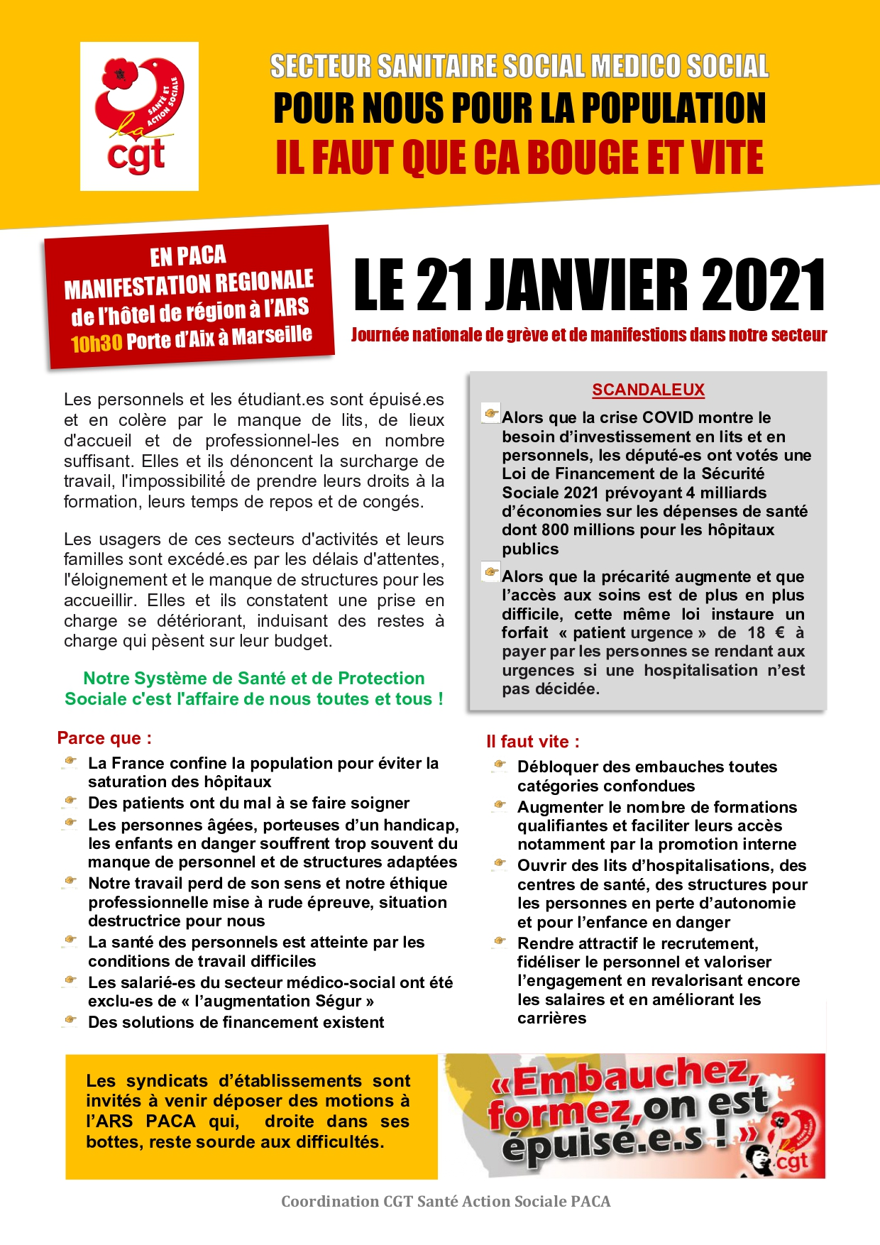 1332. Tract CGT Santé et Action Sociale PACA 21 janvier 2021