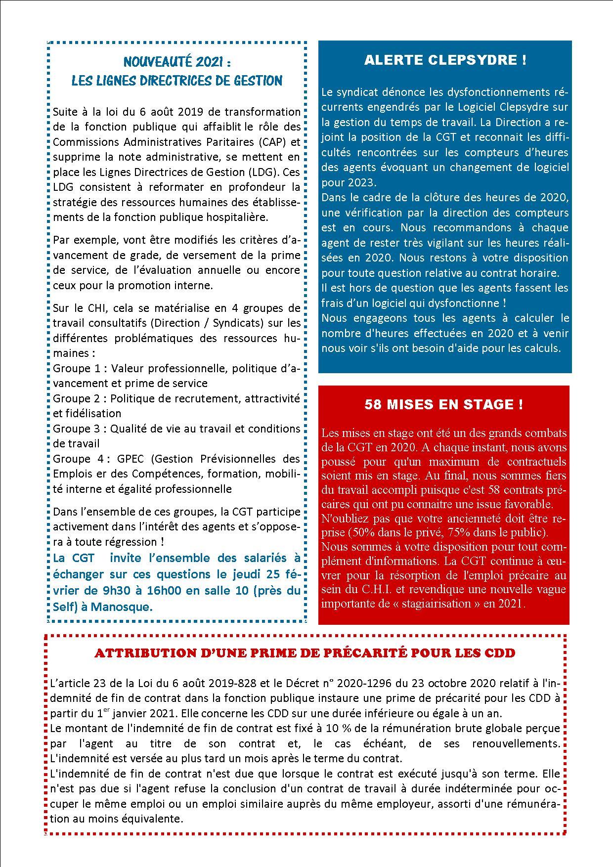 1338. 4 pages CGT Hôpital de Manosque Banon Forcalquier janvier 2021 (2)