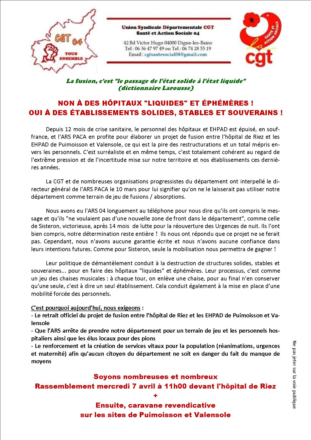 Tract pour le 7 avril 2021 (recto)