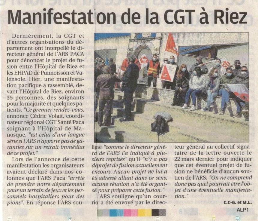 1353. Article La Provence du 8 avril 2021