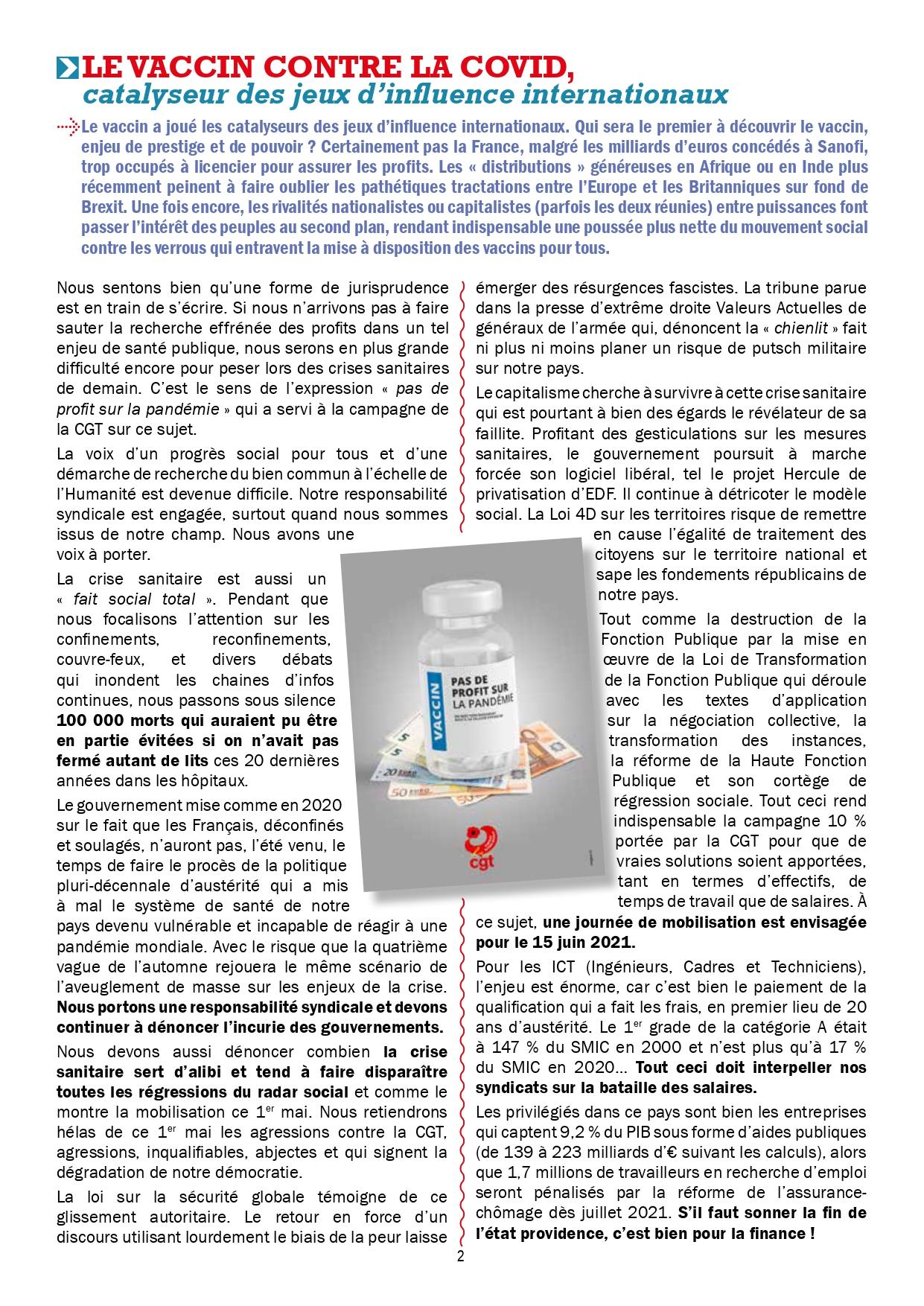 1361. UFMICT CGT Santé Options 667 du 31 mai 2021 (2)