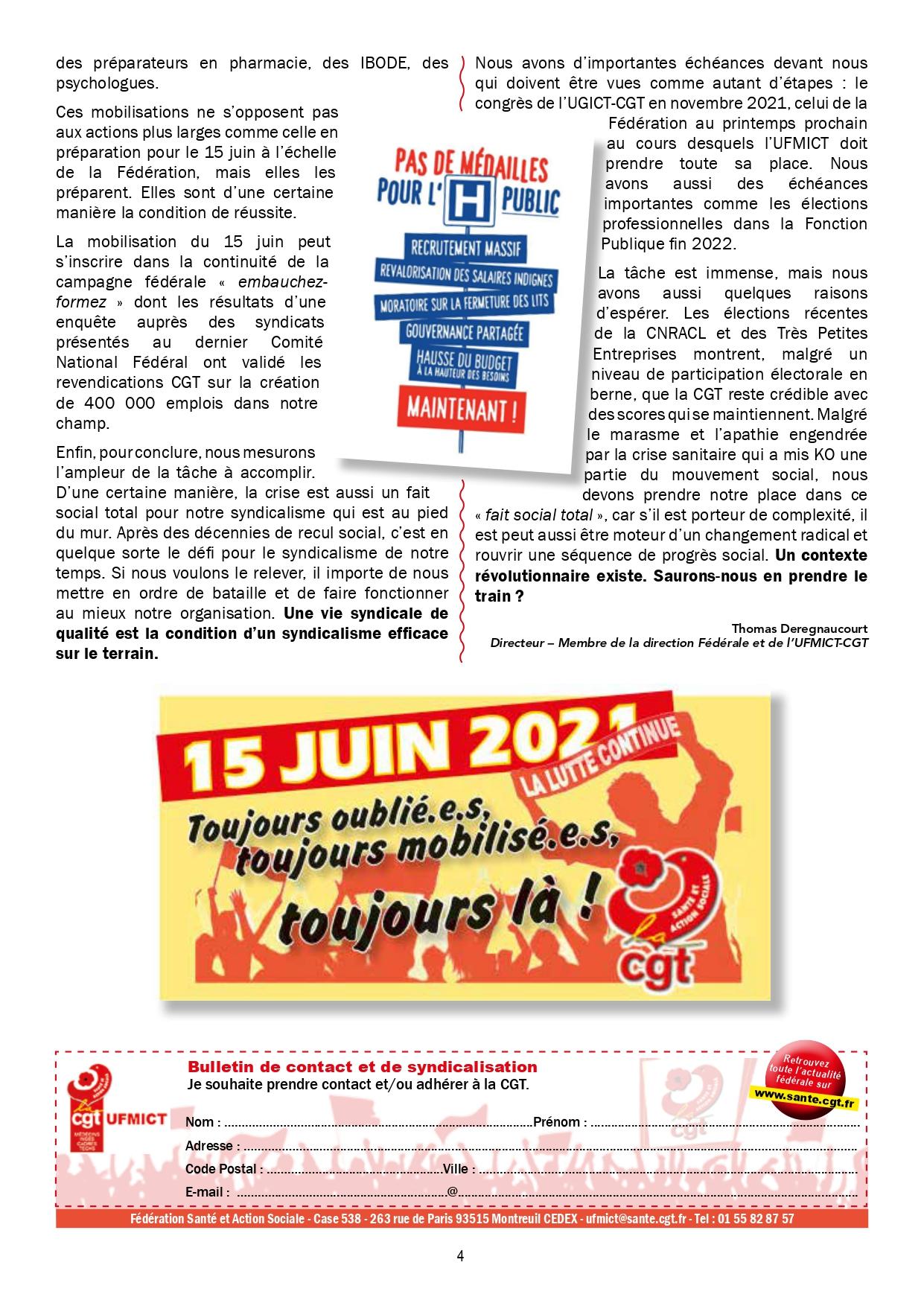 1361. UFMICT CGT Santé Options 667 du 31 mai 2021 (4)