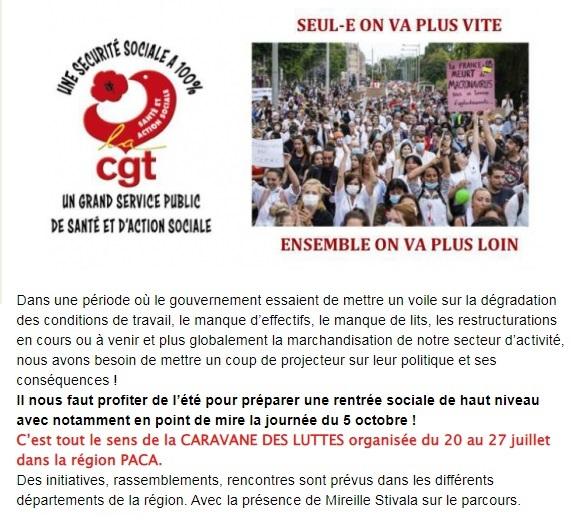 1368. Caravane des luttes CGT Sante et Action Sociale PACA