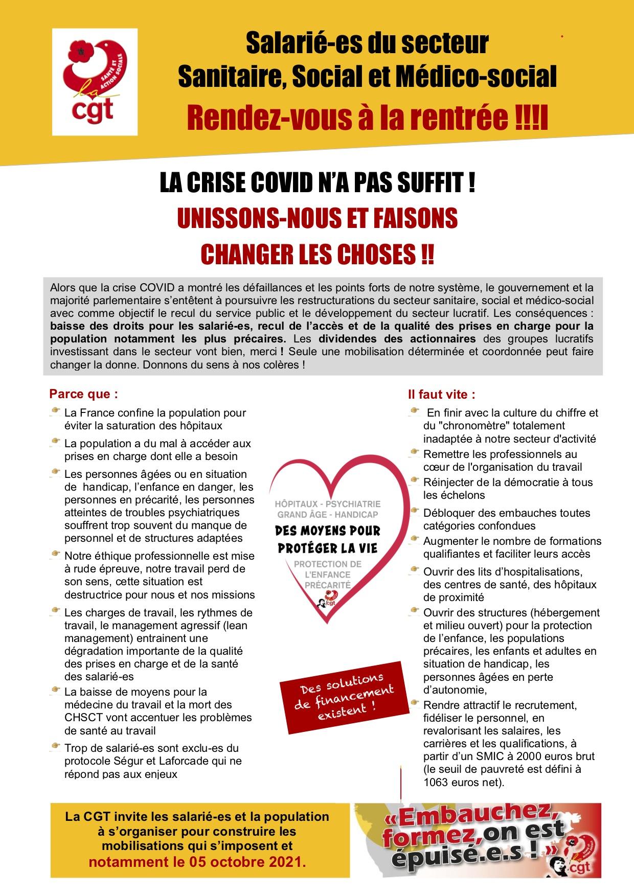 1368. Tract Salariés CGT Santé PACA page 1 sur 2