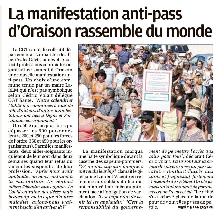 1375. Article La Provence du 29 août 2021