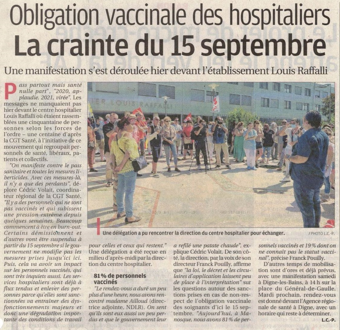 1376. Article La Provence du 8 septembre 2021